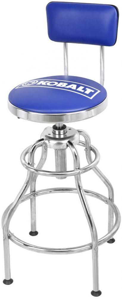details about blue adjustable hydraulic swivel padded bar shop garage mechanics stool seat