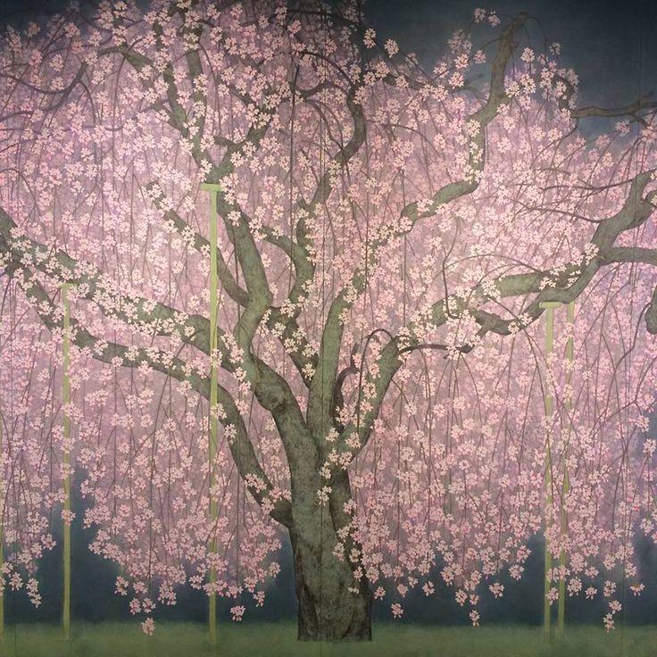 Reiji Hiramatsu tree Plant painting, Art, Japan art