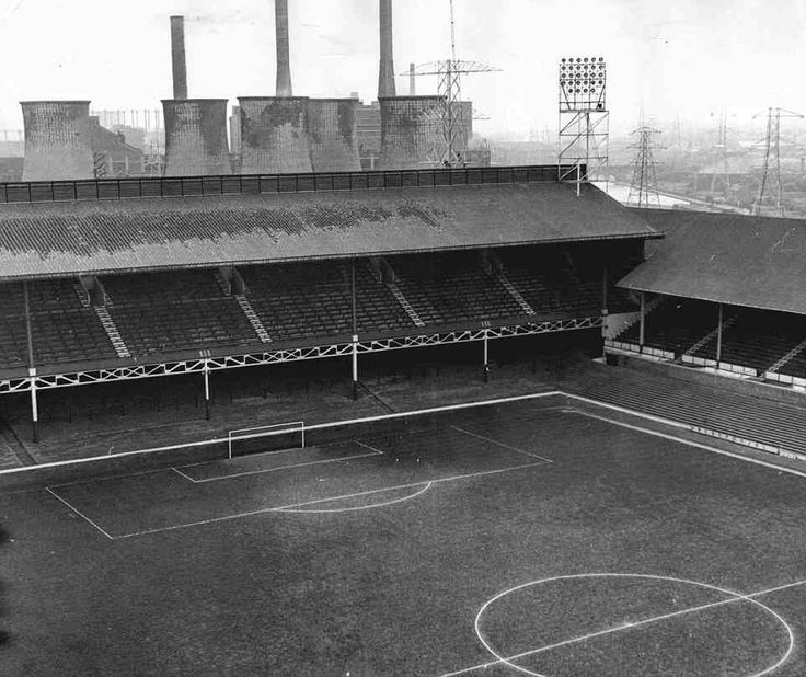 Filbert Street, Leicester City in the 1970s.