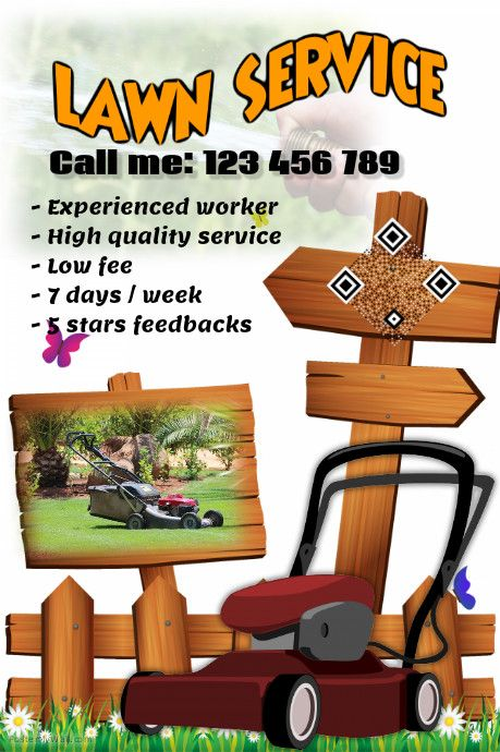 Beautiful Lawn Service Flyer Http Www Postermywall Com