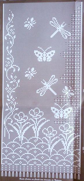 LOVE this filet crochet design