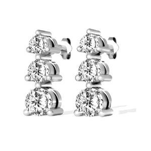 Diamantohrringe in Weißgold von www.juwelierhausabt.de  #diamantohrringe #diamantohrstecker #weissgold #gelbgold #rosegold #weisse_diamanten #schmuck #ohrschmuck #ohrstecker #juwelier #abt #dortmund #karat