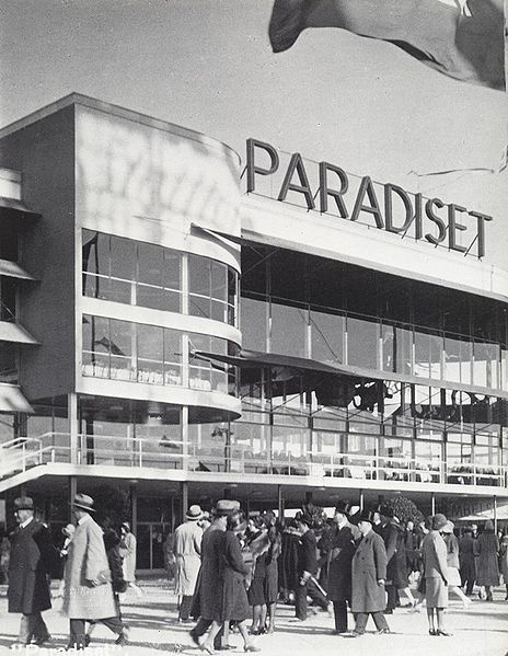 Stockholm Exhibition, 1930. Restaurant Paradiset (Paradise). Architect Gunnar Asplund