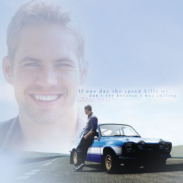 """""""If one day the speed kills me, don't cry because I was smiling."""" {Paul Walker} des by nyan_neko #kitesquotes #design #paulwalker #paul #forpaul #fast7  #nyan_neko"""