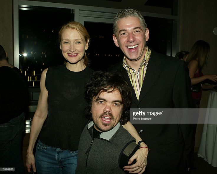 Producer Robert Mays, actor Peter Dinklage and Actress Patricia Clarkson attend the SenArt post awards party for 'Station Agent' and Fog of War' April 1, 2004 in New York City.