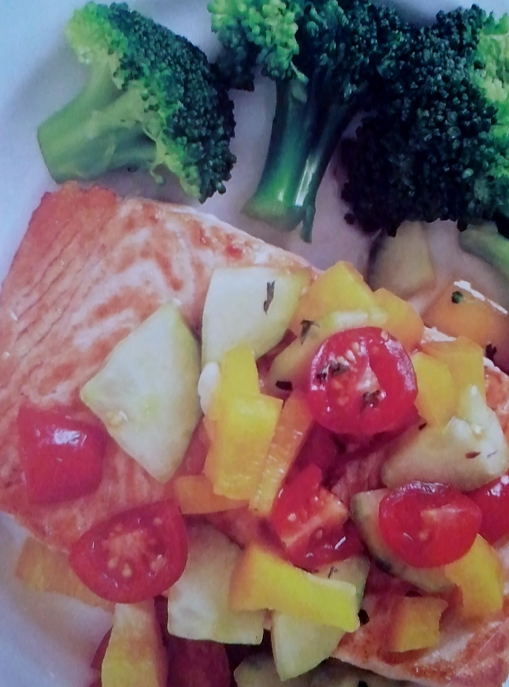 Salmon with Cucumber Salsa! Delicious | CC Healthy Connections ...