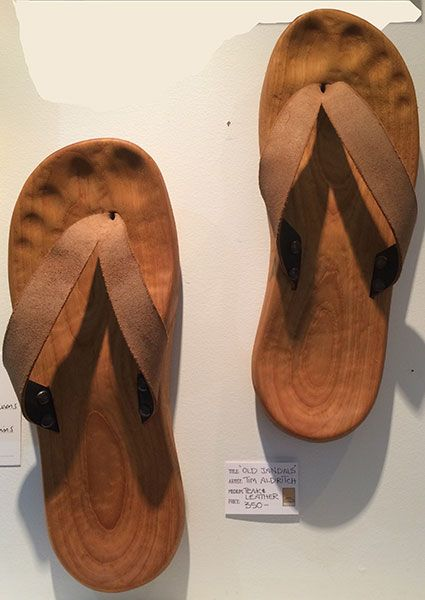 Original Artwork: Old Jandals by Tim Aldrich  #carvings #newzealand #woodcarvings #fineart #thelittlegallery