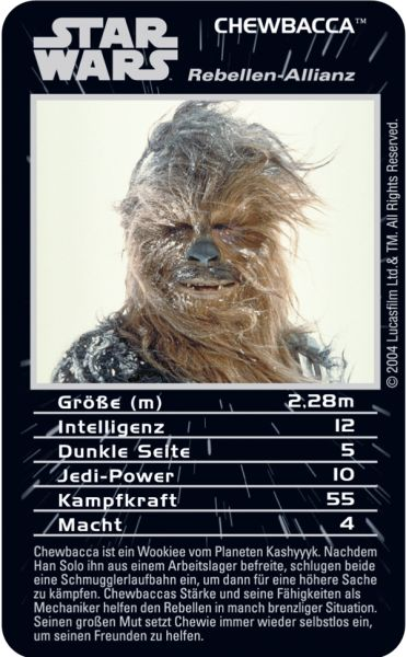 TOP TRUMPS STAR WARS EPISODE 4-6 #TopTrumps #StarWars #4 #5 #6 #PrinzessinLeia #Luke #DarthVader #Chewbacca