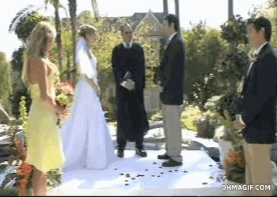 Hilarious Fail Gif Of A Best Men On His Way To Deliver The Rings Trips And Pushes Bride Groom In Pool Behind Them