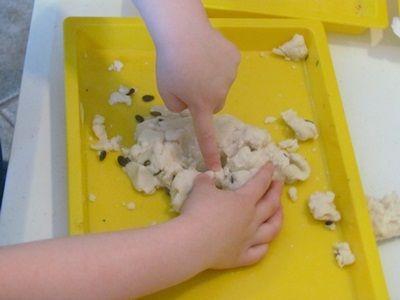 Enjoy some Spring #sensory play with #playdough and seeds!