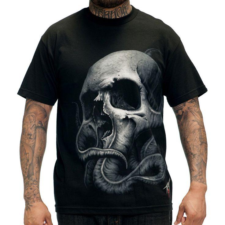 Sullen Tyrrell Octopus Skull Tattoo T-Shirt
