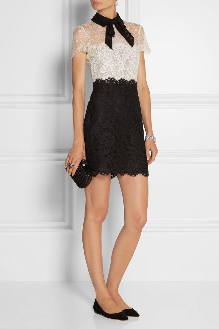 Valentino | Mini-robe en dentelle à nœud Lavallière