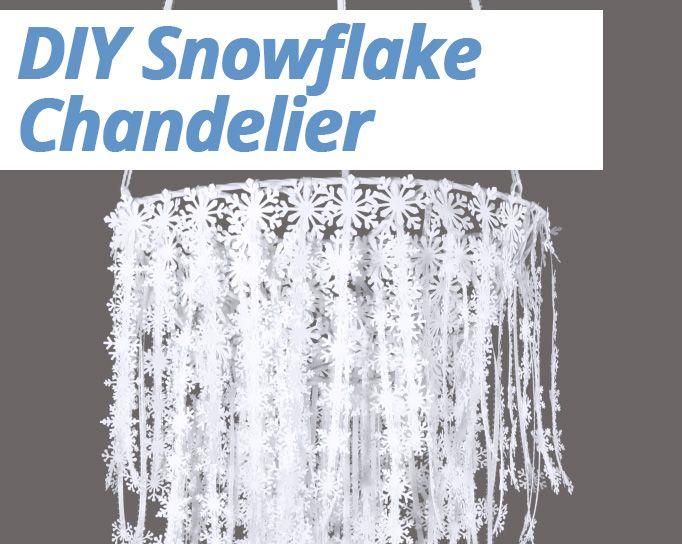 DIY Snowflake Chandelier Tutorial