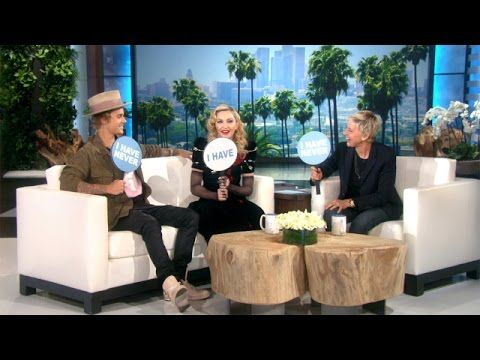 WATCH: Madonna & Justin Bieber Play 'Never Have I Ever' On 'Ellen' | KISS 95.7