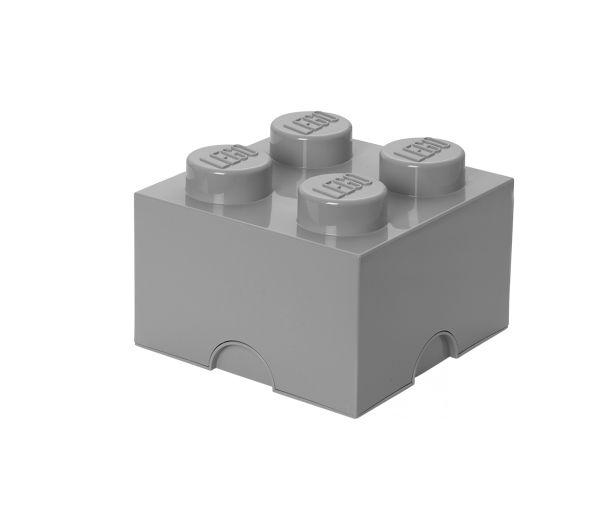 Lego Opbergdoos Grijs Brick 4 | Little Wannahaves