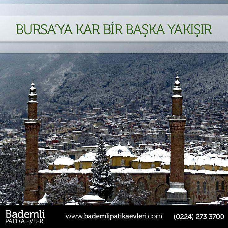 Bursa'ya kar bir başka yakışır. Sizin de Bursa'da eviniz olsun! #bursa #bademli #kar #kış #ev #villa #yatırım #beyaz - www.bademlipatikaevleri.com
