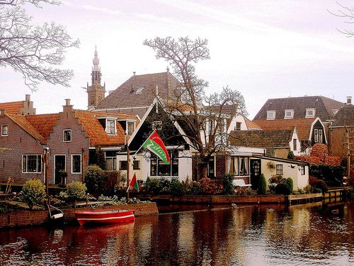 Edam, Holland.  You haven't tasted great cheese until you have eaten real Dutch cheese, in Holland - it's not the same cheese that's exported and is 10 times better!