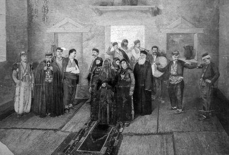 Garabed Nichanian  Armenian Wedding in Moush (1886/1890) Taron'da Ermeni düğünü, 1890'lar, Paris'teki Nubaryan kütüphanesinin koleksiyonu -