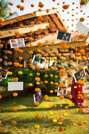 Magic with marigold | DIY decor ideas for the wedding house | Create a wishing wall in house during wedding week| Curated By Witty Vows