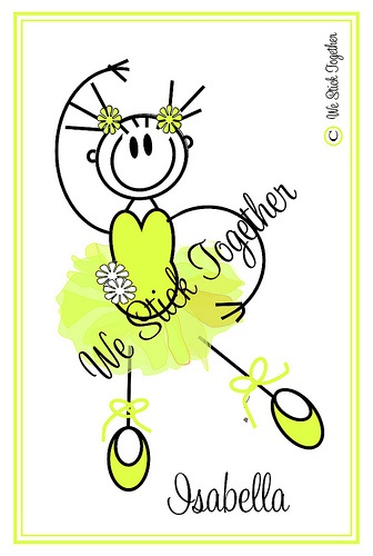 Ballerina Isabella  All hand drawn by Jacqui  Find us on facebook https://www.facebook.com/westicktogetherstickers?ref=ts=ts
