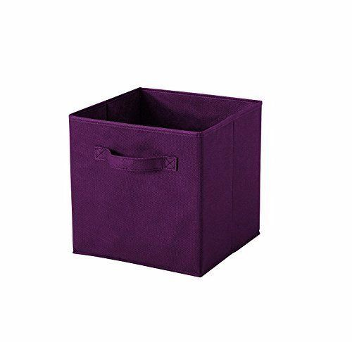 Unique HomeStorage Cubes   Collapsible Storage Basket Bin Organizer  Containers, Fabric Drawers , SpaceSaving U0026 Light Weight For Travel   6pc  Set Purple