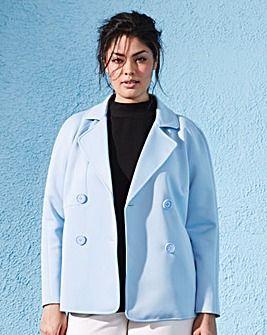 Bonded Jersey Pea Coat