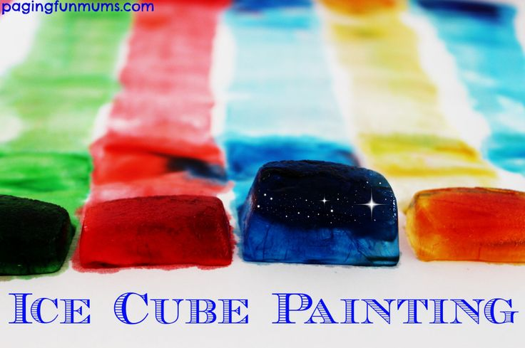 Ice Cube Painting! You only need TWO ingredients to get creative with your kids! Such 'cool' FUN!