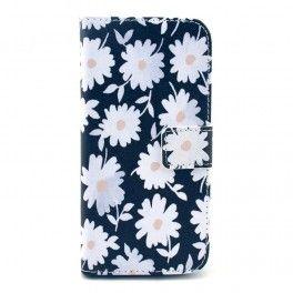 iPhone 6 valkoiset kukat puhelinlompakko