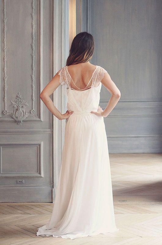 """dos de la robe de mariée """"emeline"""" Une création Marie Laporte"""