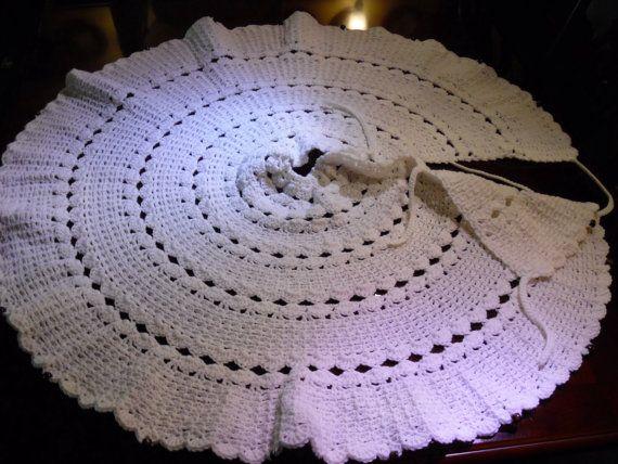 42 Diameter White Tree Skirt by KobesCountryCornerGi on Etsy