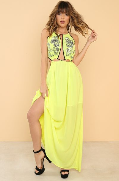 Pull It Together Dress - Yellow