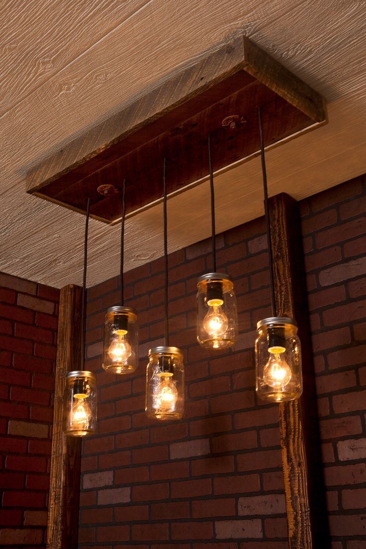 12 best light the way images on pinterest light fixtures mason jar chandelier with reclaimed wood and 5 pendants r 1434 cmj arubaitofo Choice Image