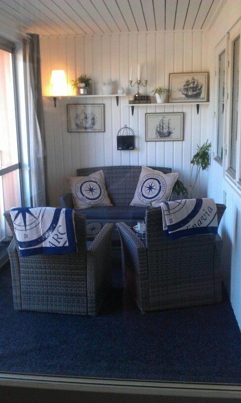 My balcony.#homedecor #indoor #inomhus #inredning #design #decoration #balcony #balkong #newengland #diy
