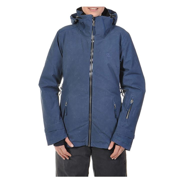 The Volkl Manu Womens Insulated Ski Jacket blends mountain styling, a flattering fit and functional performance features..
