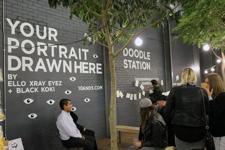 Free Live Portraits by Ello Xray Eyez and Black Koki + A Doodle Session hosted by 10and5 - http://on.fb.me/1KP5d5A