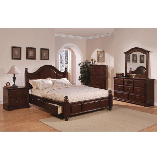 cherry wood bedroom set bedroom sets b310 series dark cherry all