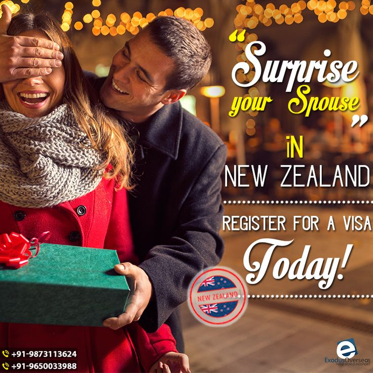 Missing your Significant other? Do not bear the wait. Surprise your spouse in New Zealand. Contact Mr. Pankaj Malhotra (Ex-Visa Officer) Ph: +91-9650033988. For any visa other than Student contact Ms. Rajni Garg (Licensed immigration advisor) at +91-9873113624. #exodusoverseas #visa #officer #licensed #immigration #advisor #newzealand