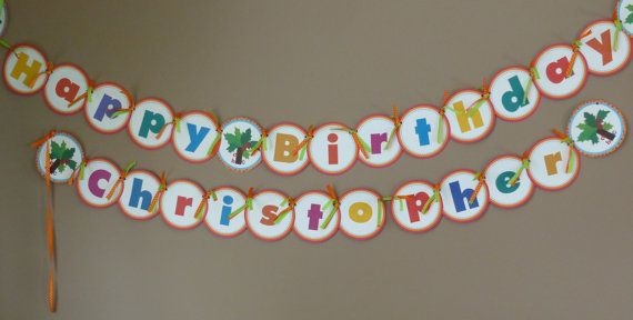 ♥♥Welcome to Sweet Pea Printable!♥♥ Chicka Chicka Boom Boom! Will there be enough room? This printable birthday banner for your special