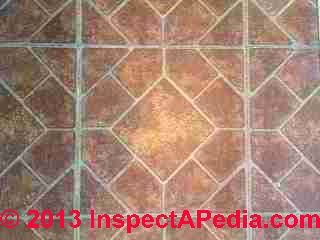Armstrong Vernay Series self adhesive floor tile - did not contain asbestos (C) InspectApedia PS