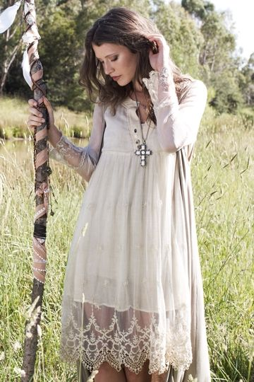 boho bird had me at hello lace trim dress boho clothing online clothing stores and everything. Black Bedroom Furniture Sets. Home Design Ideas