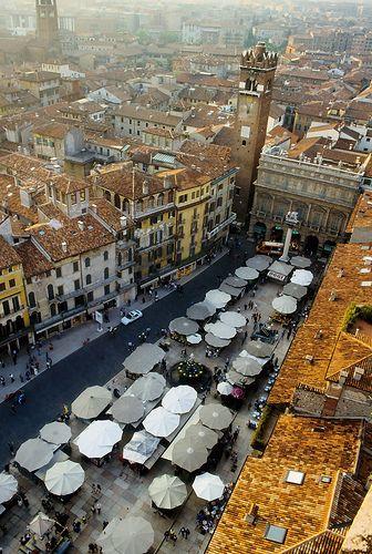 Piazza delle Erbe in Verona                                                                                                                                                      More