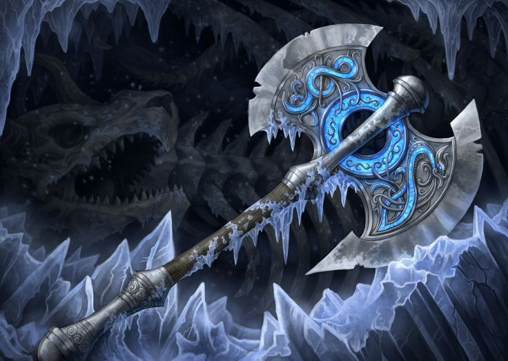 axe fantasy | Closeup Battle axe Fantasy weapon sword wallpaper | 5176x3675 | 399198 ...