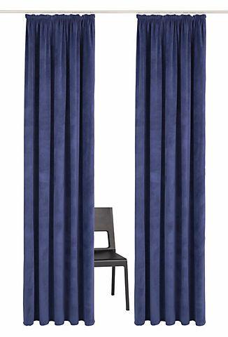 Vorhang, »Samso«, Guido Maria Kretschmer Home&Living, Kräuselband 2 Stück   in dunkelblau im Online Shop von Baur Versand