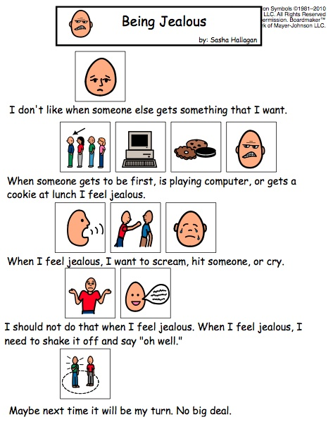 Being Jealous - Help kids with autism work on jealousy with this visual story.