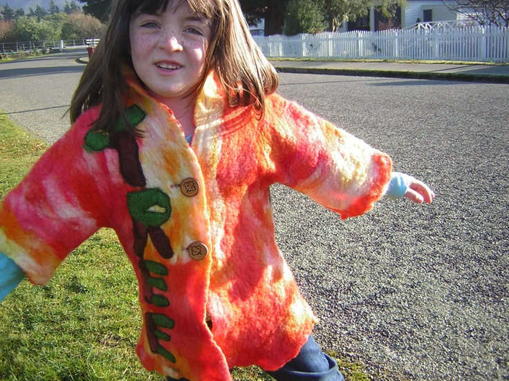 my grandaughter in the jacket I made her