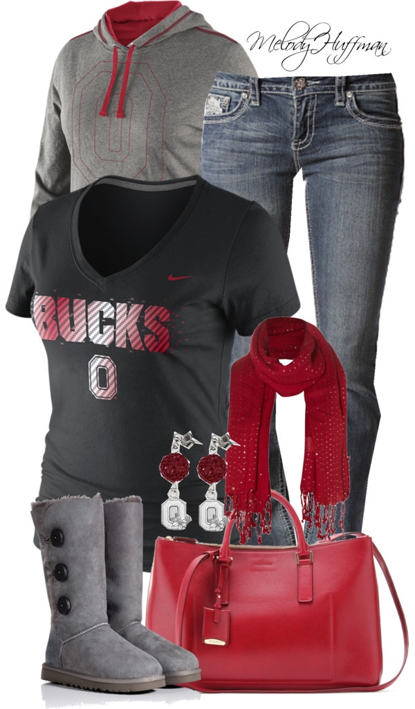 """Football Season Tailgating: Ohio State Buckeyes"" by mhuffman1282 on Polyvore"