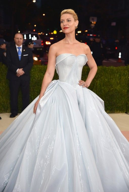 Claire Danes in Zac Posen at the 2016 Met Gala.