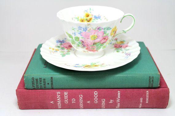 Vintage MidCentury Teacup & Saucer  Royal by FairVeronaAntiques, $20.00