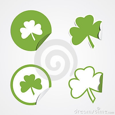 St Patricks Day Stickers by Justin Skinner, via Dreamstime