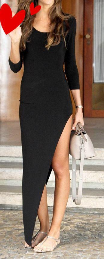 Long Sleeves Prom Dress,Black Dress,Casual Dress, Bodycon Dress,Cheap